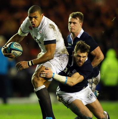 England's Luther Burrell impressed in the defeat of Scotland.