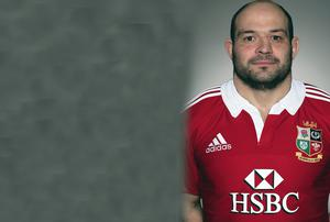 Rory Best in his new Lions shirt after being called up for the Tour