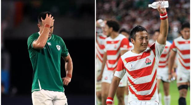 Despair and joy and the end of the Japan-Ireland game.