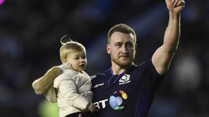 Scotland star Stuart Hogg will wave goodbye to Glasgow in the summer (Ian Rutherford/PA)