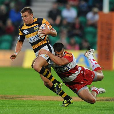 Will Robinson, left, made five appearances for Wasps