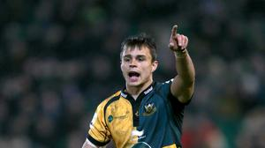 Tom Collins scored a hat-trick of tries for Northampton