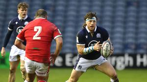 Hamish Watson (right) in action in Scotland's 25-24 loss to Wales (Jane Barlow/PA).