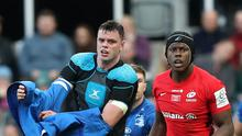 Leinster's James Ryan, left, is wary of Saracens despite the Heineken Champions Cup holders enduring a troubling season on and off the pitch (David Davies/PA)