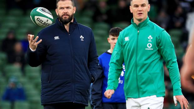 Andy Farrell praised the performance of Sexton following injury (Donall Farmer/PA)