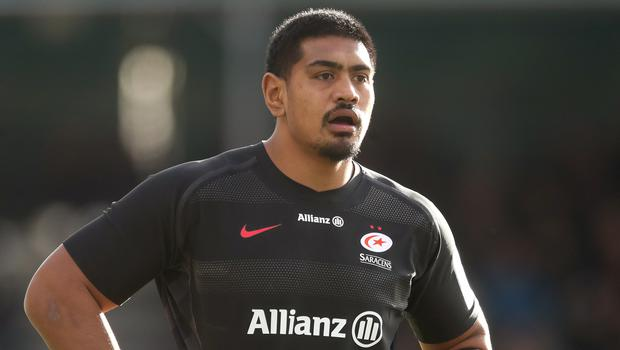 Saracens have been fined for fielding Titi Lamositele when he was not eligible in the Champions Cup (Adam Davy/PA)