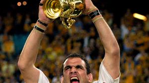 Martin Johnson, pictured, led England to World Cup glory in 2003
