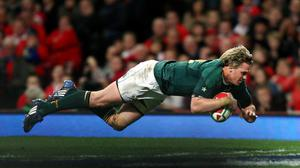 Jean de Villiers will captain South Africa against Ireland this weekend