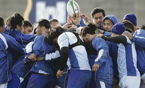United: The Samoans have climbed to seventh in the IRB rankings