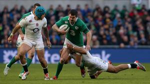 Johnny Sexton, pictured, and Conor Murray have emerged as the world's best half-back pairing, according to Ireland team-mate Simon Zebo
