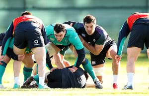 Possible combination: James Ryan and Quinn Roux could be Ireland's second-row pairing against Italy