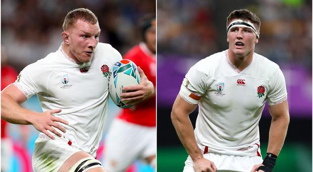 Sam Underhill, left, and Tom Curry have been instrumental for England (David Davies/PA)