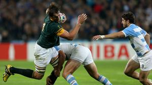 South Africa's Eben Etzebeth will not be joining Saracens