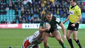Ollie Sleightholme has joined Connor Tupai in signing a new contract at Northampton. (Nigel French/PA)