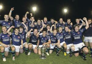 Queen's win the Dudley Cup earlier in the season and are hoping to add the First Trust Senior Cup to their collection tonight at Ravenhill