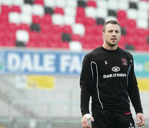 Sidelined: Tommy Bowe has been on the injured list since Ireland's loss to the All Blacks in November