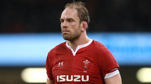 Wales captain Alun Wyn Jones faces a spell on the sidelines (Adam Davy/PA)