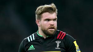 Rob Buchanan celebrated signing a new Harlequins contract earlier in the week with a try against Cardiff