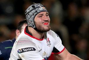 Tom O'Toole in action for Ulster