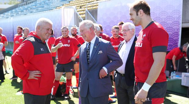 The Prince of Wales visited Warren Gatland's squad in Japan (David Davies/PA)