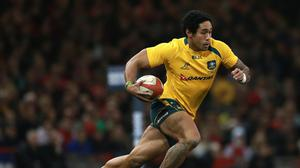 Joe Tomane during his time with the Wallabies