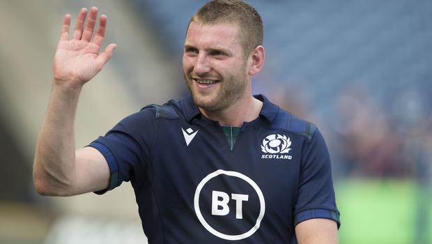 Finn Russell is absent for disciplinary reasons (Ian Rutherford/PA)