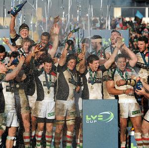 Harlequins are on target to win the treble after lifting the LV= Cup