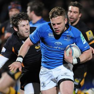 Leinster's Ian Madigan, right, was in inspired form