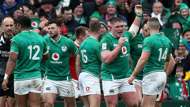 Ireland defeated Wales to move top of the Six Nations standings (Brian Lawless/PA)