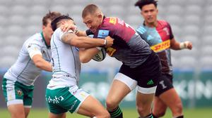 Former England fullback Mike Brown created two tries in Harlequins' 30-17 Gallagher Premiership win over Northampton (Adam Davy/PA)