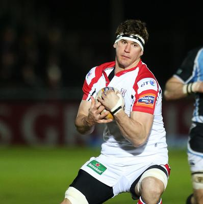 Dan Tuohy, pictured, scored two tries as Ulster beat Cardiff Blues.