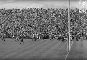 Last hurrah: Ireland host Wales at Ravenhill in 1939 before the outbreak of World War II