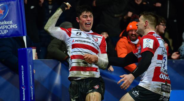 Louis Rees-Zammit, left, has been in flying form for Gloucester (Simon Galloway/PA)