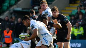 Hooker Elvis Taione (centre) has signed a new contract with Exeter Chiefs (Tony Marshall/PA).