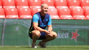 Stuart Lancaster has been working on the coaching staff at Leinster (Adam Davy/PA).