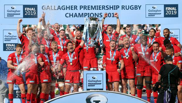 Champions Saracens have been punished for Premiership salary cap breaches (Paul Harding/PA)
