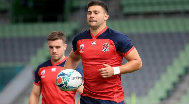 England's Ben Youngs during a training session at Kobe Misaki Stadium (Adam Davy/PA)