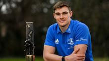 Top of the class: Ireland centre Garry Ringrose with his Guinness Rugby Writers of Ireland Player of the Season award