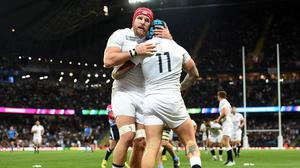 James Haskell, left, has felt in a bubble during the World Cup