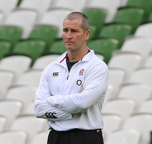 England coach Stuart Lancaster, pictured, has Courtney Lawes and Mike Brown back for the clash with Scotland