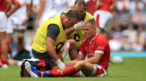 Gareth Anscombe suffered the injury against England (Adam Davy/PA)