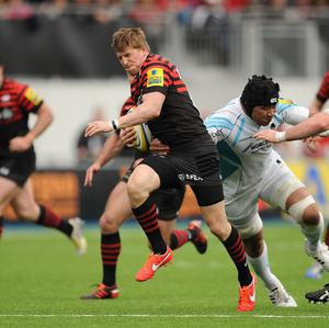 David Strettle scored a hat-trick of tries for Saracens