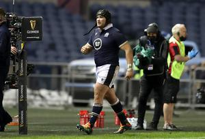 Zander Fagerson was sent off 13 minutes into the second half at Murrayfield (Jane Barlow/PA).