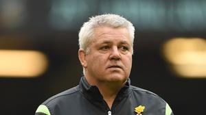 Warren Gatland, pictured, had the last laugh over columnist Neil Francis as Wales saw off Ireland 23-16 at the Millennium Stadium