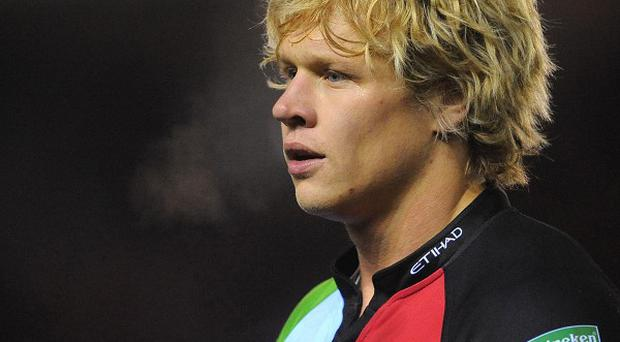 Quins' Matt Hopper scored the only try of the contest