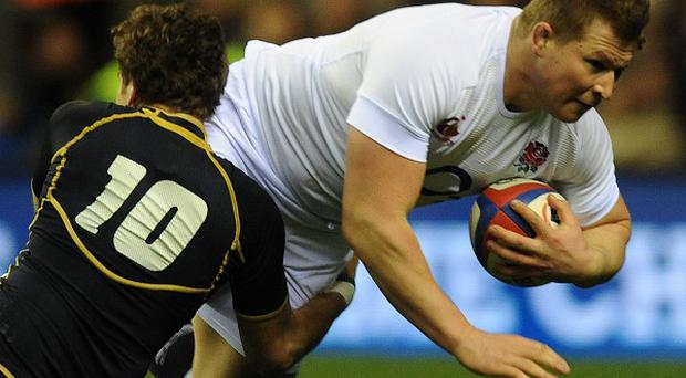 Dylan Hartley came off the bench in England's win over Scotland