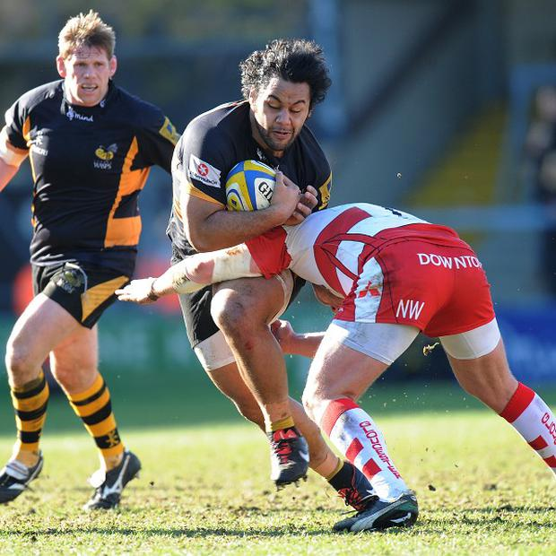 Billy Vunipola, centre, scored what proved to be the decisive try