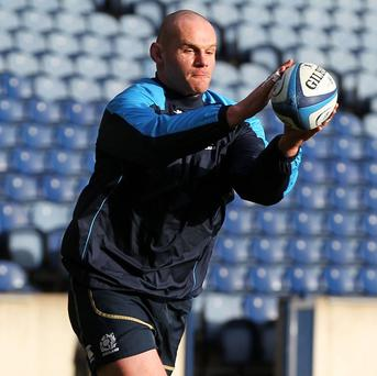 Geoff Cross, pictured, will replace Euan Murray against Ireland