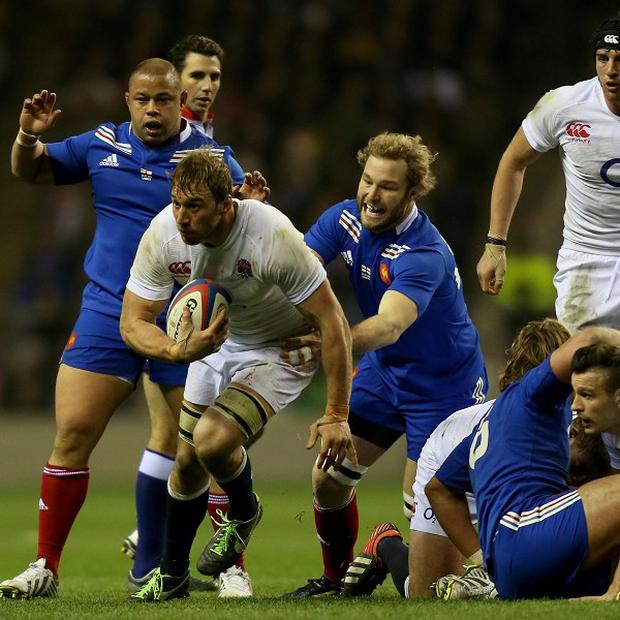 Stuart Lancaster hailed the performance of Chris Robshaw, centre left