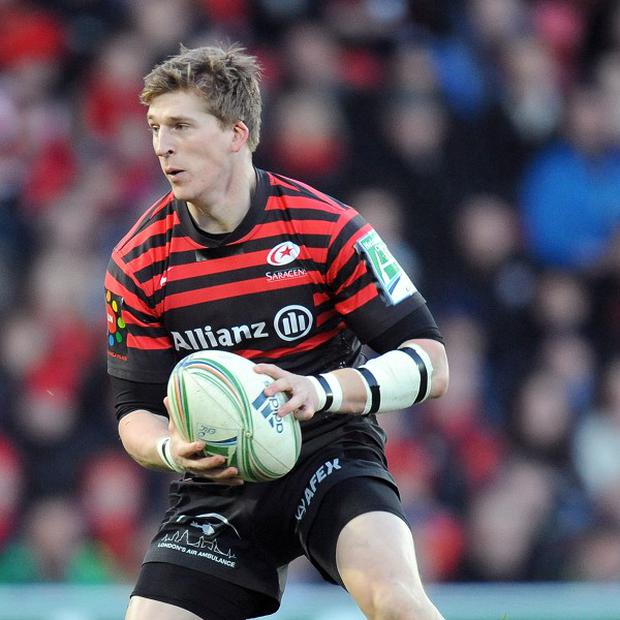 David Strettle scored two of Saracens' four second-half tries against Leicester